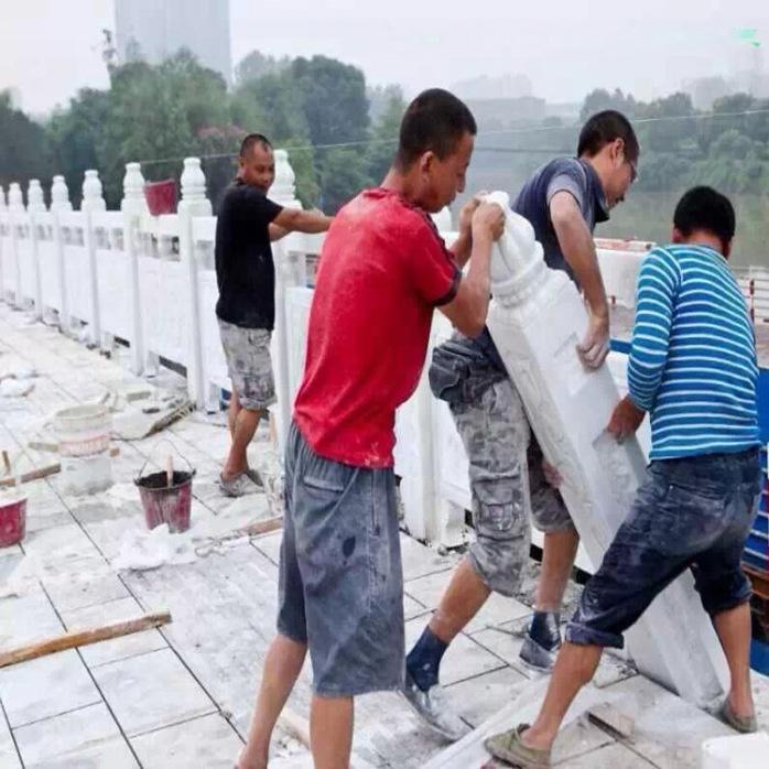 大桥石栏杆石雕栏板 大理石栏杆河道景区广场石头护栏770284592