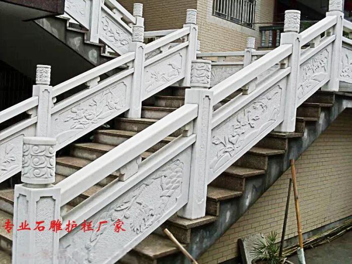 汉白玉石雕栏板多少钱   石材护栏厂家65688282