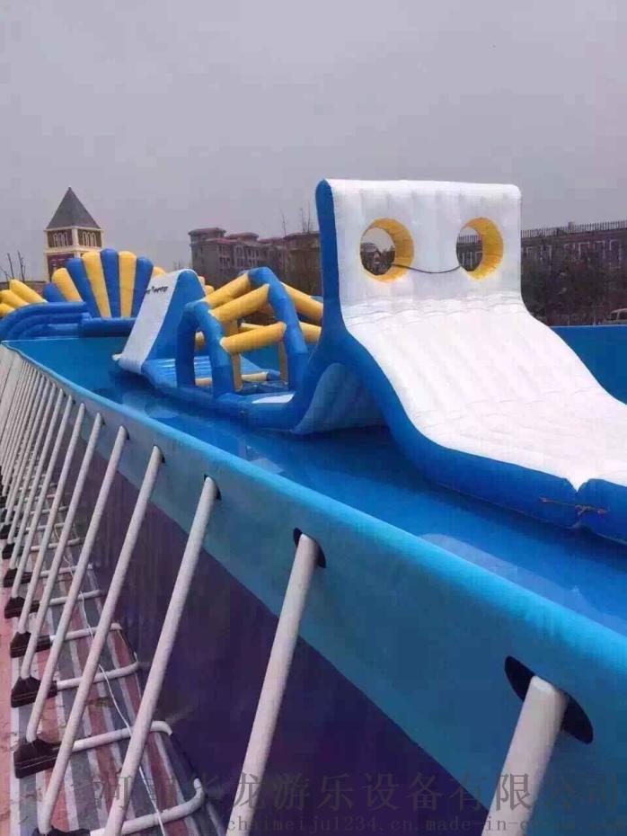 华龙游乐支架水池拆装式游泳池成人游泳池厂家直销773297432