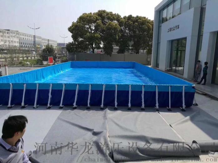 华龙游乐支架水池拆装式游泳池成人游泳池厂家直销773297402