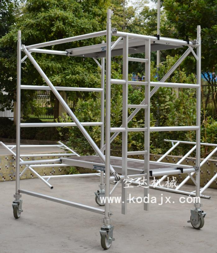 6米深圳铝合金活动脚手架,移动式航空铝制手脚架67259782