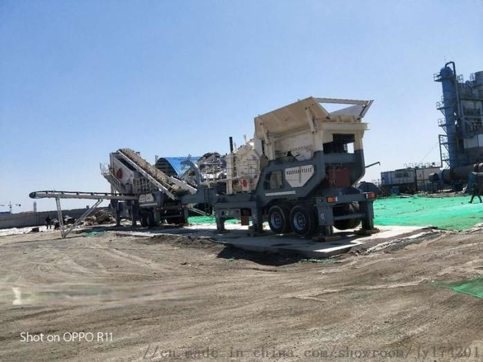 建筑石子流动式破碎机 山东轮胎式移动破碎机厂家67996502