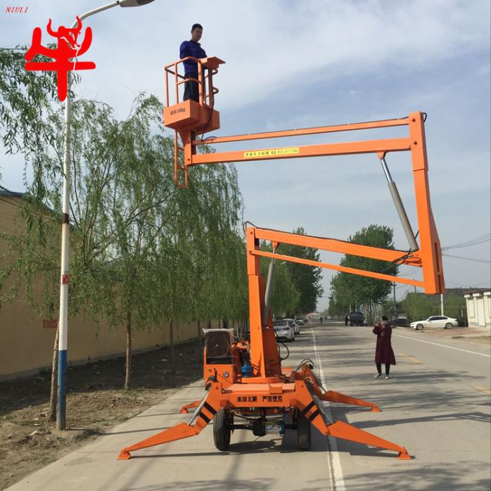 广告维修高空作业平台车柴油驱动曲臂式升降机自行走式液压升降梯731538482