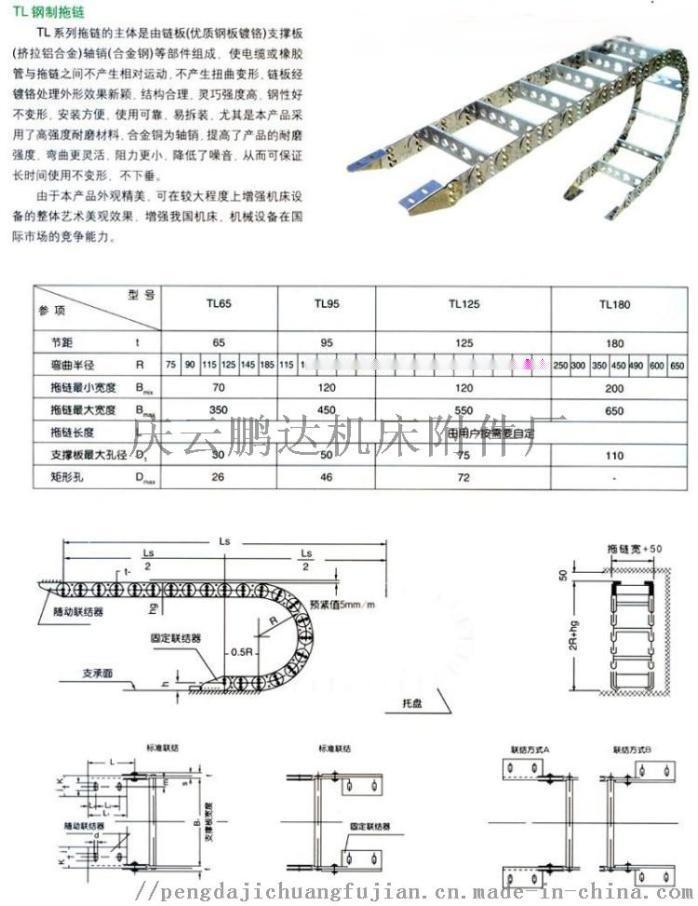 冶金设备专用钢铝拖链 线缆油管气管不锈钢拖链76943422