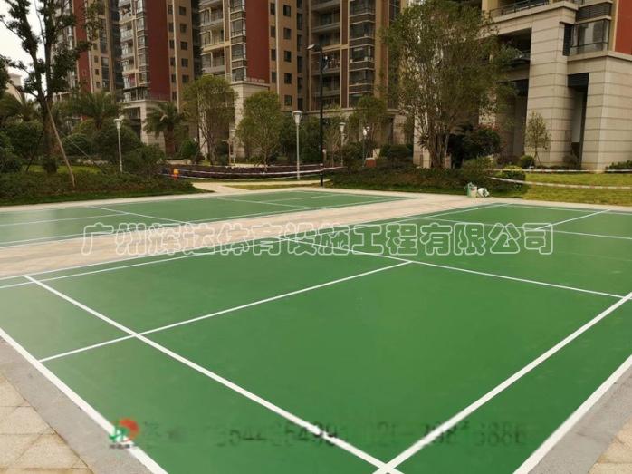 塑膠羽毛球場施工建設及羽毛球場地膠安裝廠家791398392