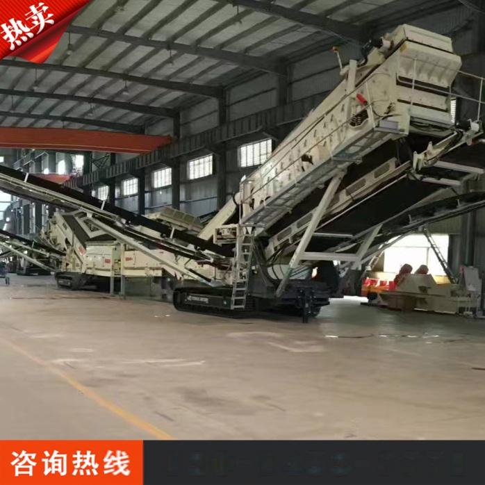厂家定制加工轮胎式建筑垃圾移动破碎站791882752