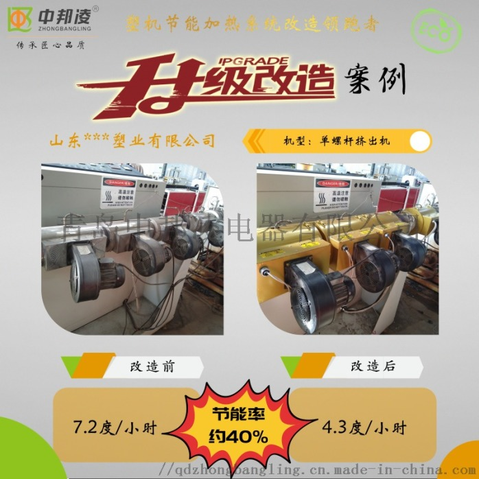 青岛中邦凌挤出机专用节能加热器 塑机节能改造63520842