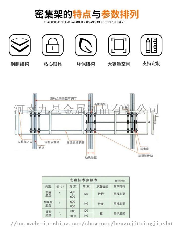 廠家直銷智慧密集架電動密集架可移動雙柱會計憑證檔案83681202