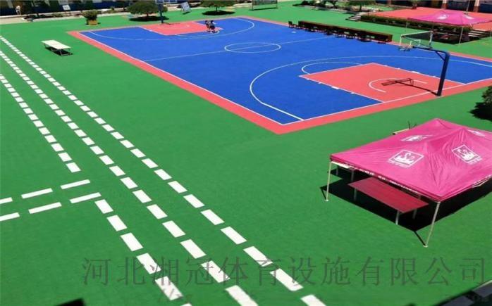 安装学校篮球场悬浮拼装地板施工拼装地板厂家河北湘冠84446495