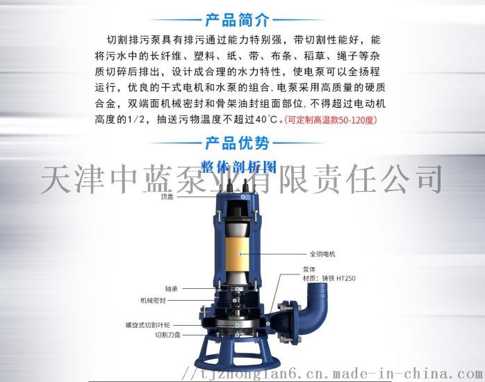 切割式污水泵 大流量排污泵 切割水泵799771852