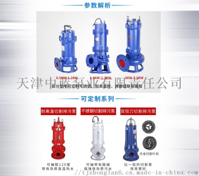 切割式污水泵 大流量排污泵 切割水泵799771872