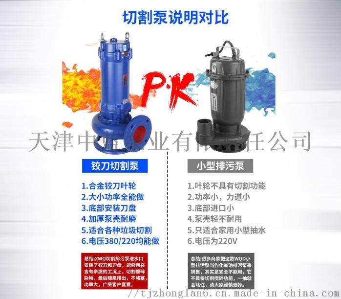 切割式污水泵 大流量排污泵 切割水泵799771882