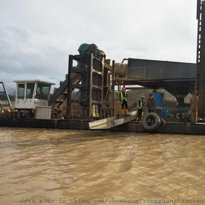 定製淘金船砂金提取設備淘金機械大型抽沙淘金船802452522