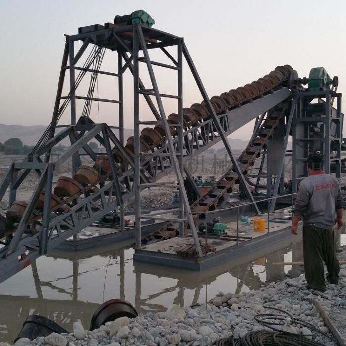 定製淘金船砂金提取設備淘金機械大型抽沙淘金船802452512