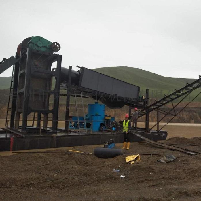 定製淘金船砂金提取設備淘金機械大型抽沙淘金船90249722