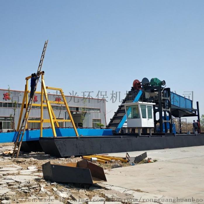定製淘金船砂金提取設備淘金機械大型抽沙淘金船90249652