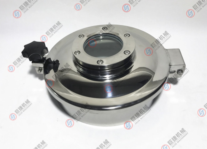 温州产卫生级带视镜常压人孔 卫生级人孔 不锈钢人孔37808565