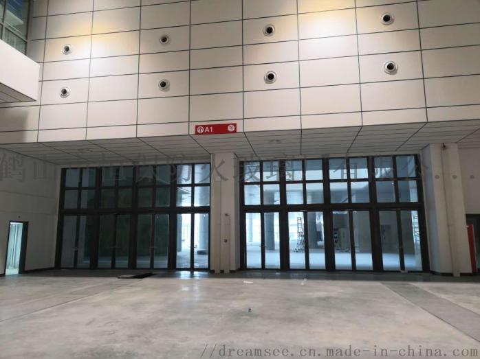 会展中心展览馆超大尺寸不锈钢玻璃防火门连窗803083142