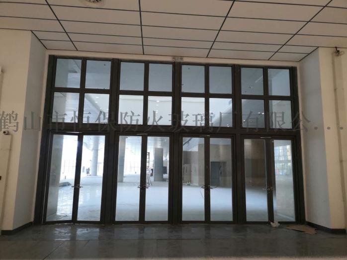 会展中心展览馆超大尺寸不锈钢玻璃防火门连窗803083152