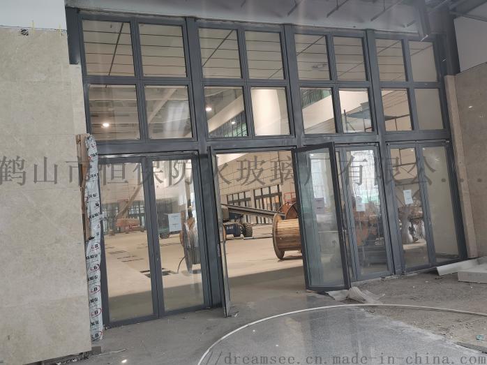 会展中心展览馆超大尺寸不锈钢玻璃防火门连窗90841482