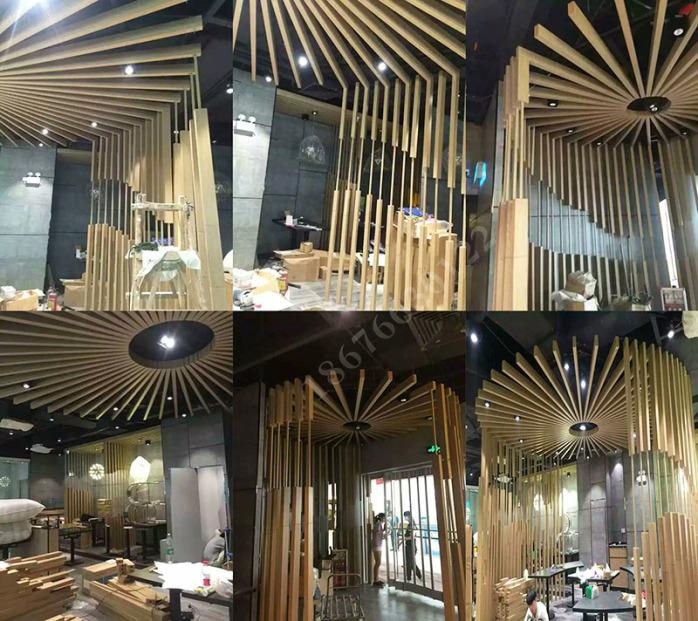 铝方管隔断安装 广东厂家专业生产氟碳木纹门头铝方通88677135