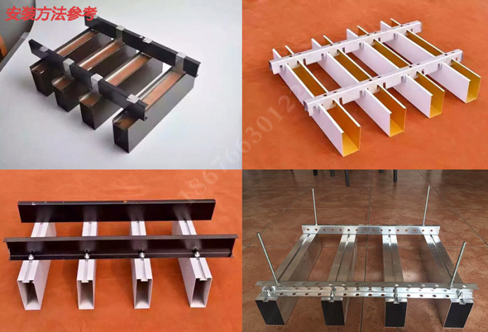 铝方管隔断安装 广东厂家专业生产氟碳木纹门头铝方通88677075