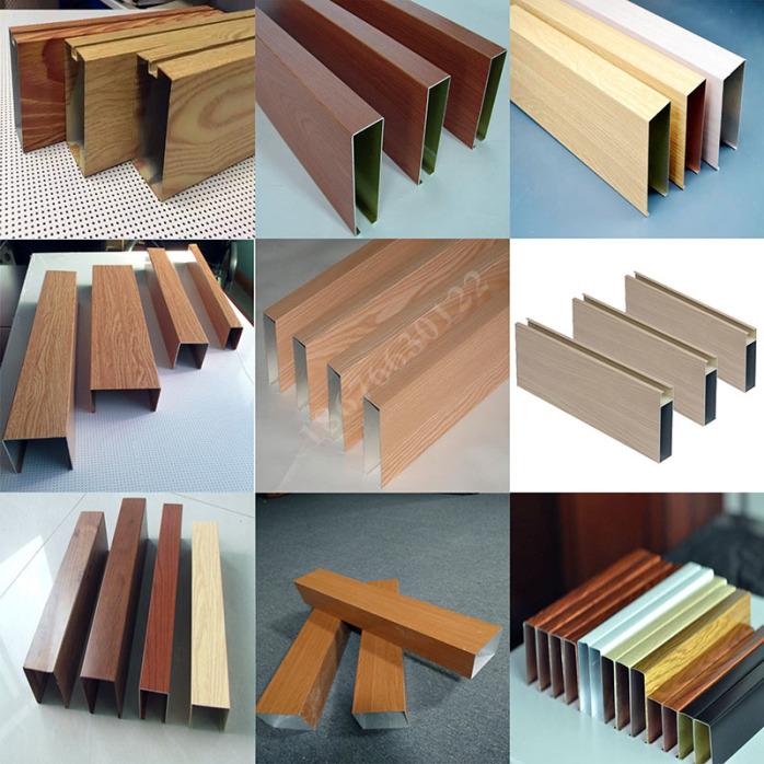 铝方管隔断安装 广东厂家专业生产氟碳木纹门头铝方通88676765