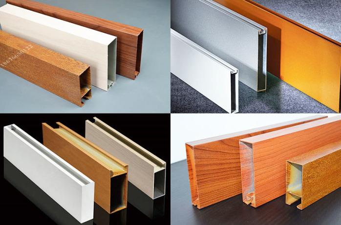 铝方管隔断安装 广东厂家专业生产氟碳木纹门头铝方通88676545