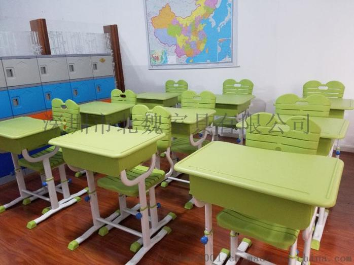abs单人小学生塑料升降课桌椅厂家96077515