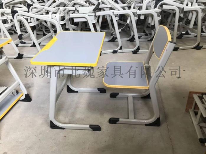 高中课桌椅*钢木课桌椅厂家*学生实木单人课桌椅96210895