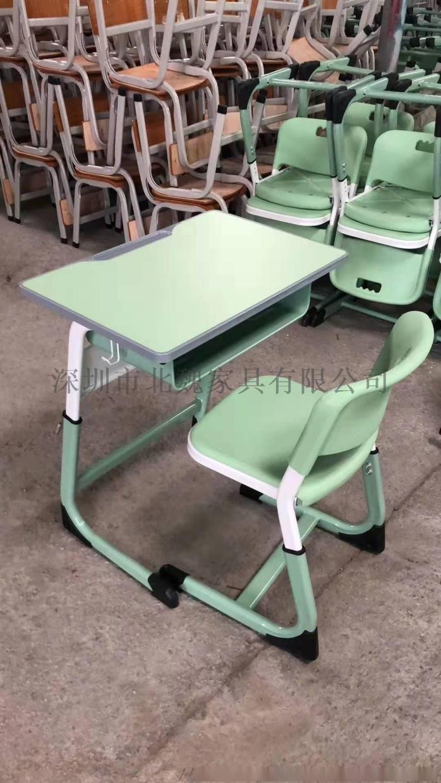 高中课桌椅*钢木课桌椅厂家*学生实木单人课桌椅96210945