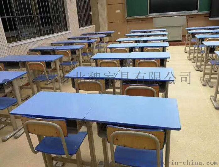 高中课桌椅*钢木课桌椅厂家*学生实木单人课桌椅96210925
