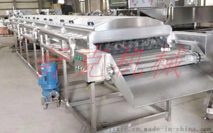 网带式低温连续生产肉丸蒸线龙虾蒸道97157702