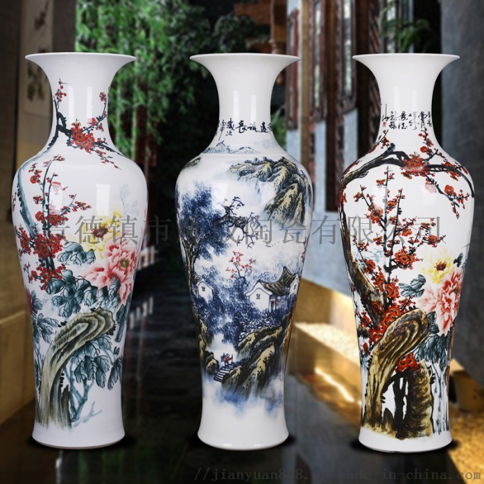 手繪藝術大花瓶 1.6米花瓶 陶瓷開業裝飾擺件801252605