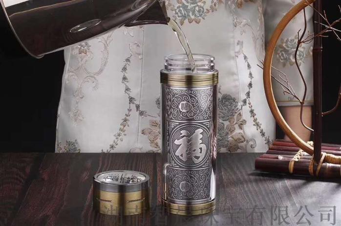 一键速开银内胆保温杯  银杯子厂家直销支持定制813689565