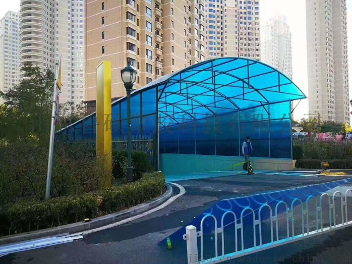 青岛阳光板雨棚