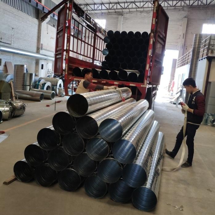镀锌螺旋风管DN450定制 佛山螺旋风管厂家813304835
