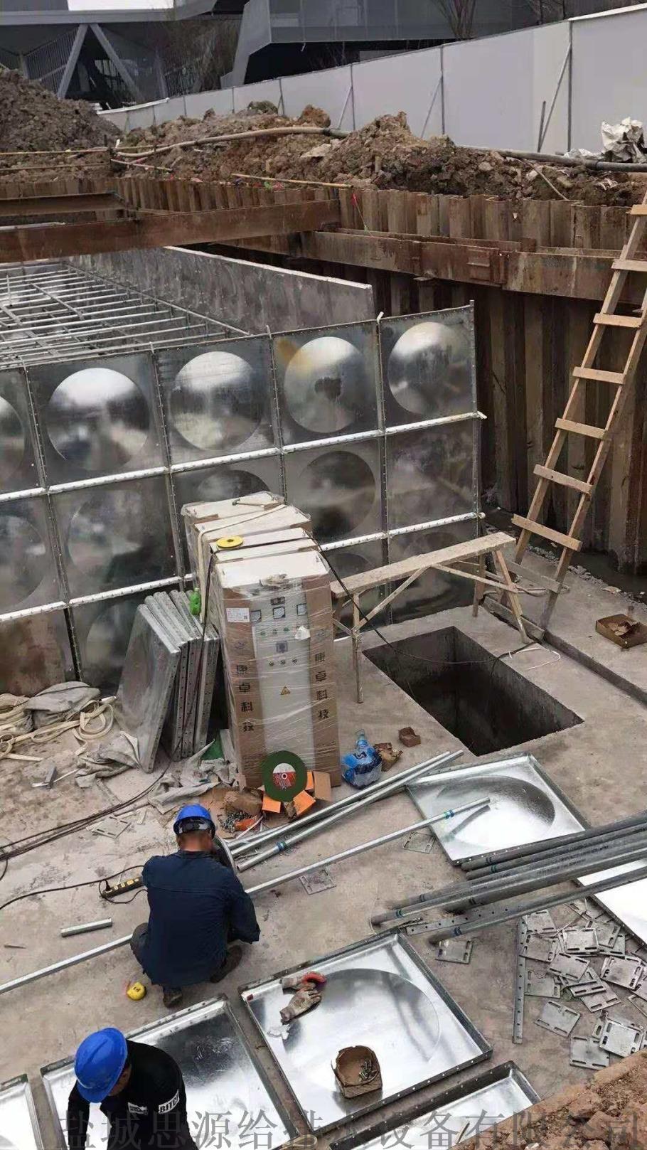地埋式装配式消防水池采用热镀锌钢板材质99024755