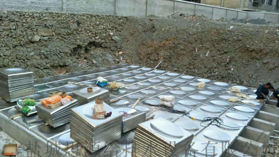 地埋式装配式消防水池采用热镀锌钢板材质99024795