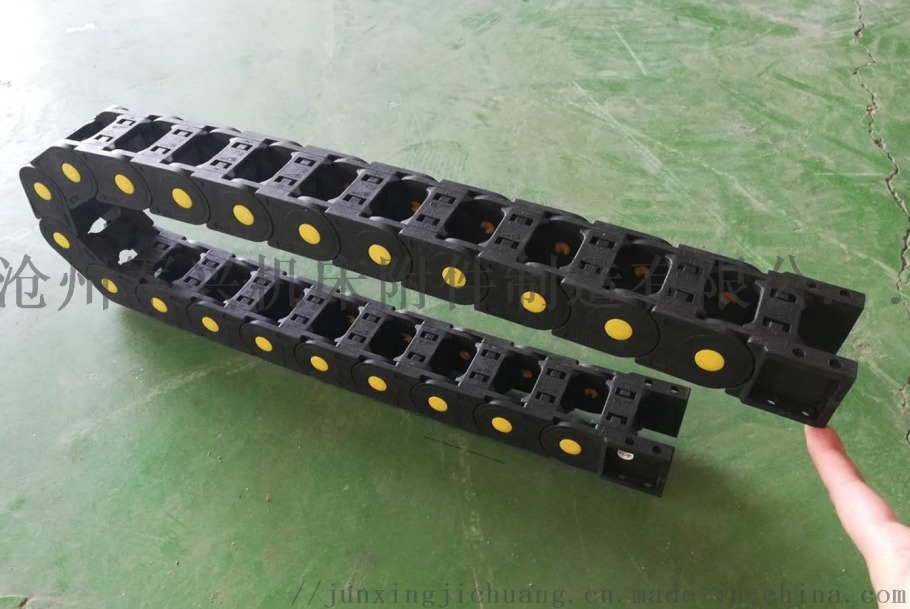尼龙拖链详细展示 塑料坦克链耐磨不塌腰穿线保护拖链820604992