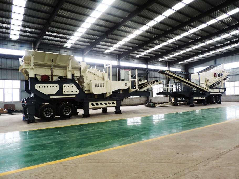 砂石骨料移动式破碎站 建筑垃圾轮胎移动式制砂机厂家110050232