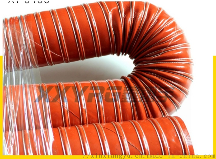 红色耐高温除湿干燥机通风排气软管 耐热耐高温风管157708205