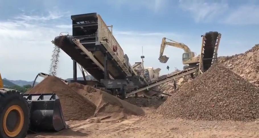 贵州大型石灰石破碎机 移动建筑垃圾破碎站厂家786096872