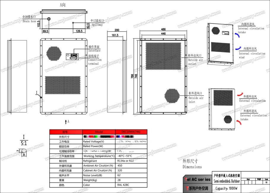 重庆电气柜空调DKC10WA(746)嵌入(1000W)-1.jpg