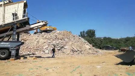 礦山移動破碎站 山東移動碎石機廠家 青石破碎機