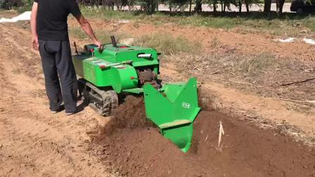 履帶開溝機 多功能旋耕機 自走式田園管理機