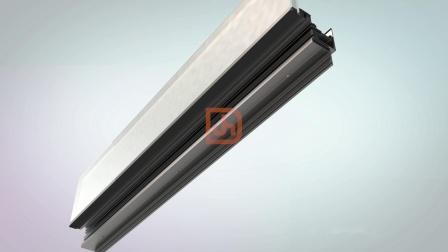 """鋁塑板、玻璃幕牆 智慧""""掛鉤式""""幕牆系統"""