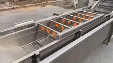 海鲜气泡清洗机 高压喷淋自动清洗设备