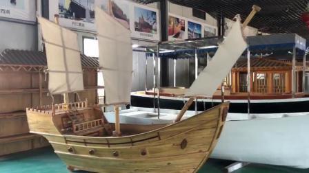 3米室内商场景观海盗木船船型吧台收银船