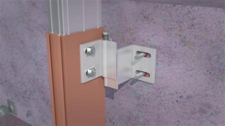兴发智慧型挂钩式幕墙立柱与建筑主体安装方